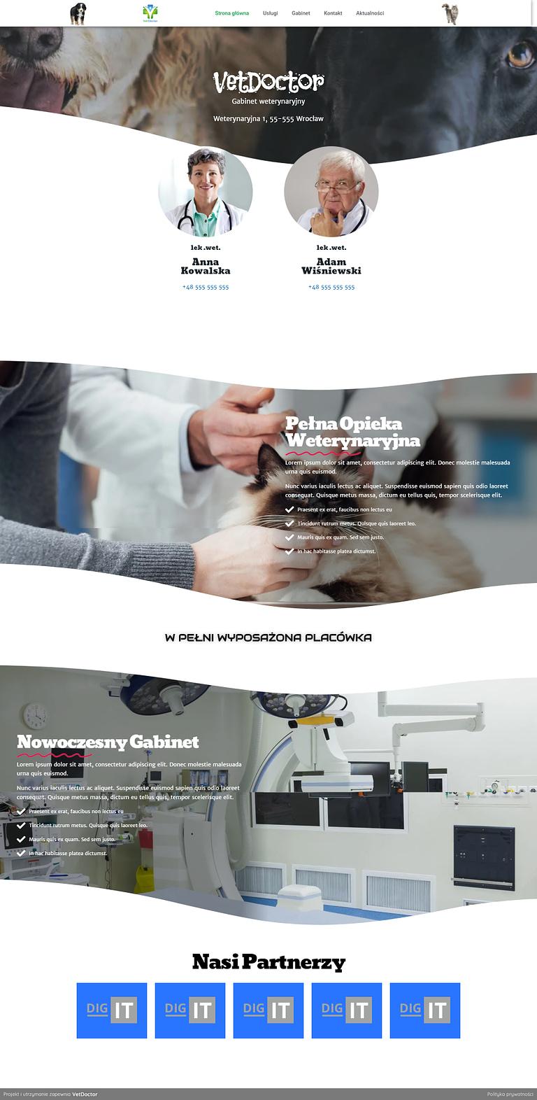 VetDoctor - Witryna internetowa dla gabinetu weterynaryjnego